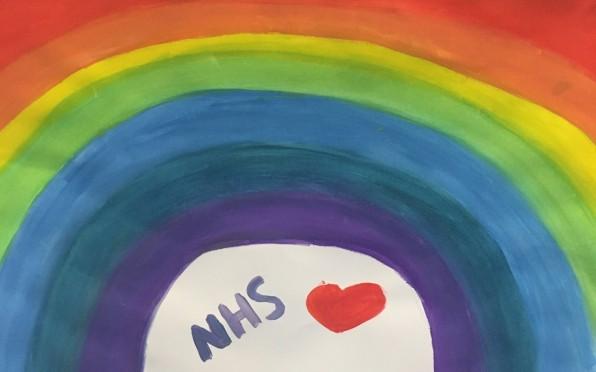 Rainbow in school hall