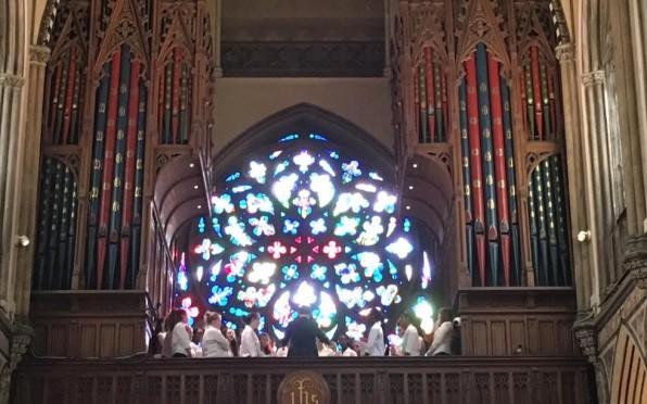 Choir at Farm Catholic Church, Mayfair, London