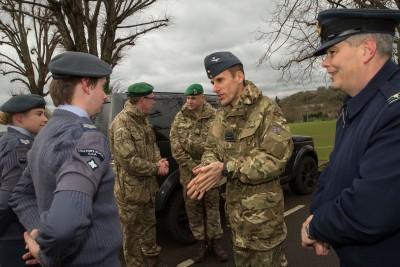 Image - OC Martin Higgins inspects CCF
