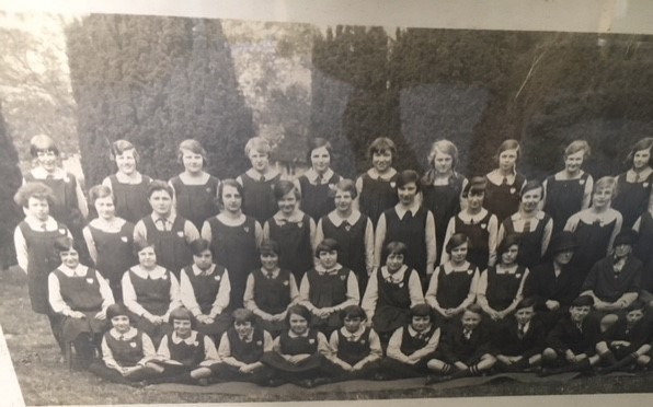 n: School photograph 1927, Florence N. David is third row, centre.