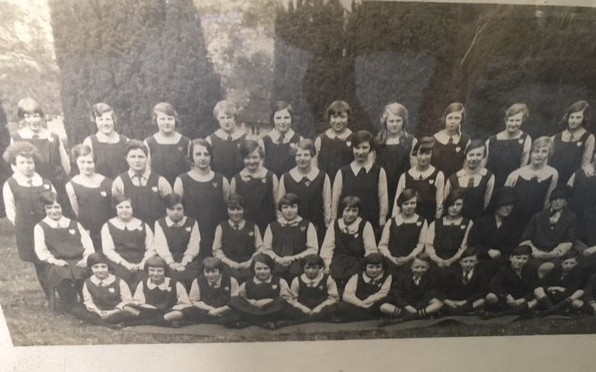 Colyton Grammar School photo 1927 (F.N. David third row back, third in on the left)