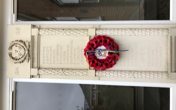 Memorial at Colyton Grammar School
