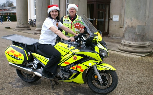 Concord chemistry teacher Ms Fiona Parry is a Blood Bikes volunteer