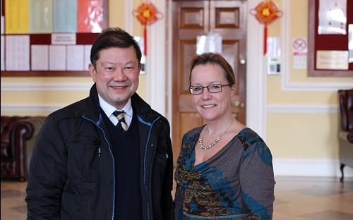 Uran with Alumni Officer Sara Eastwood