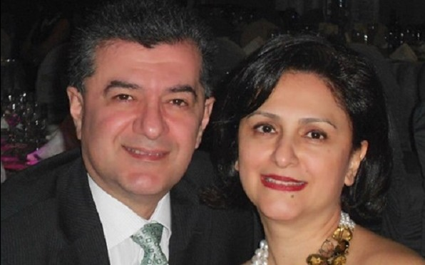 Navid with his wife Maryam
