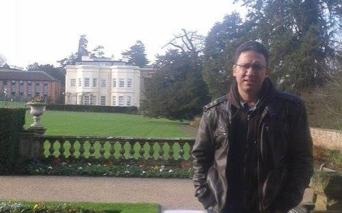 Alumni Gursel Adil Karacor (1988-1989) comes to visit
