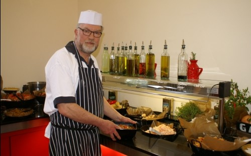 Ed Birch preparing his last supper