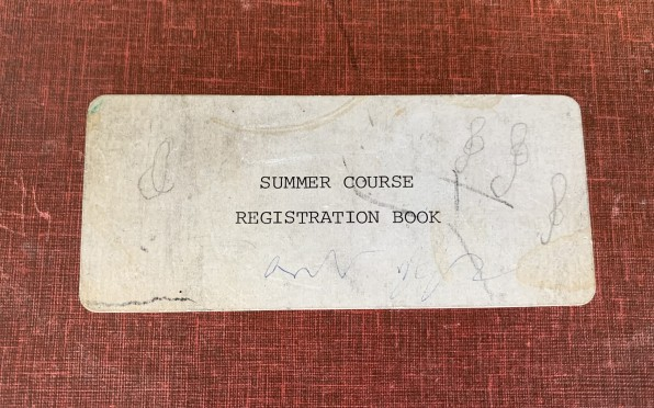 Concord's Summer School 'Registration Book' dating back to 1980.