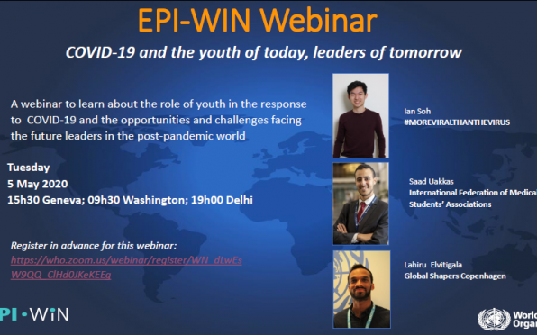 The EPI-WIN Webinar: COVID-19 and the youth of today, leaders of tomorrow