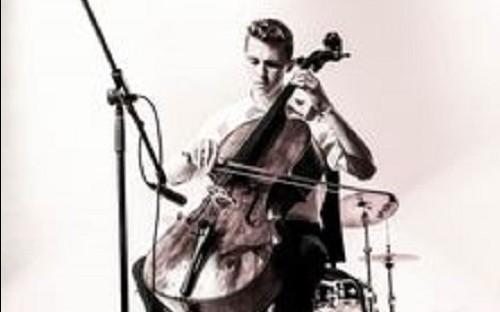 Josh playing his cello