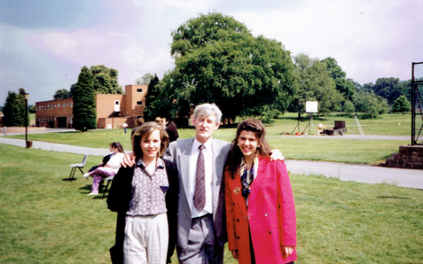 Pictured (left to right): Sara Eastwood, Mr Tony Morris, Emma Jones.