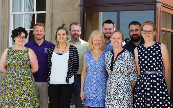 Kari Quant, third from right, with the Summer School team