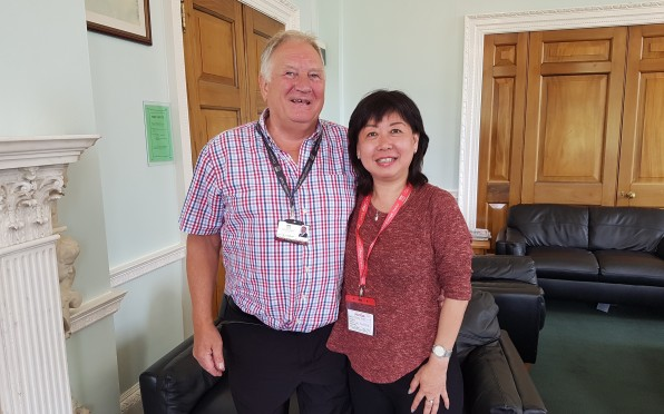 Corinna caught up with her former teacher, Mr John Leighton