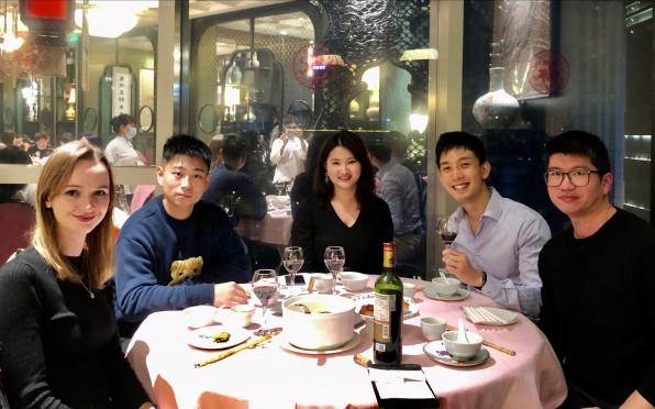 Concord Alumni from left to right: Abbi Ford, Cedric Jiang, Jessica Chang, Burton Li, Aking Li
