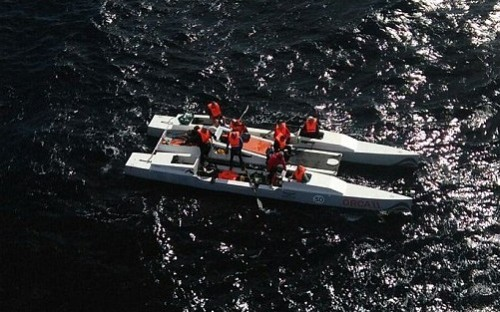 The boat was intercepted 93 miles of the south west coast of Gran Canaria