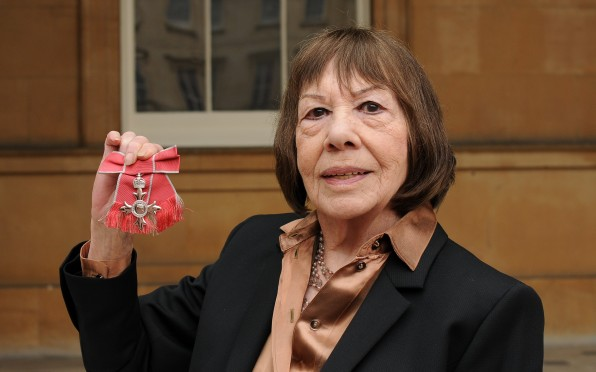 Mogg with her MBE