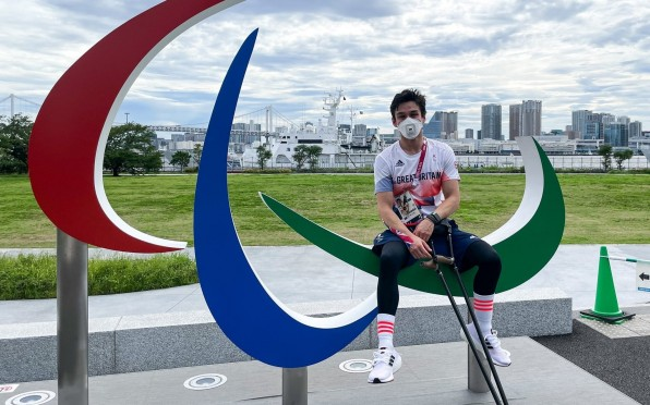 Oliver in Tokyo for the Paralympics