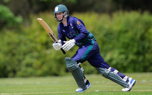 Matt Stokes on his way to a superb 213 not out.