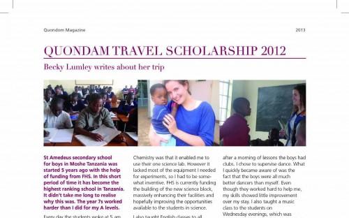 story image for Travel Scholarship Winner 2012