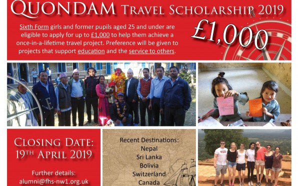 Quondam Travel Scholarship 2019