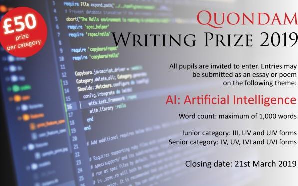 Quondam Writing Prize 2019