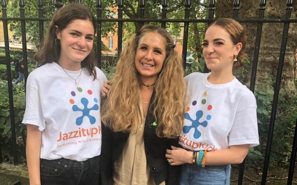 (L-R) Olivia Muccio, Lale Nicoletti and Asia Nicoletti