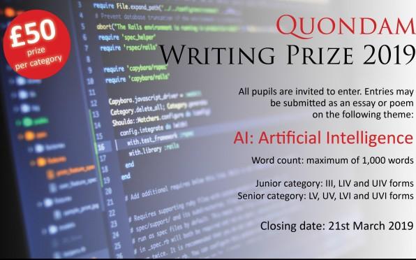 Quondam writing prize