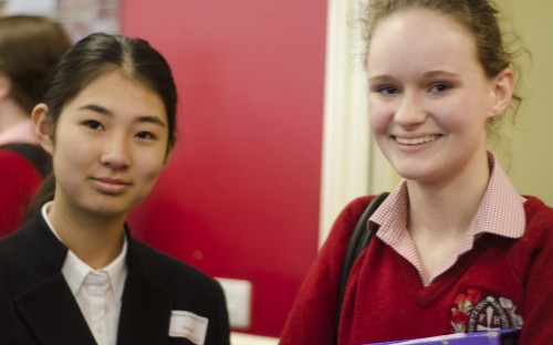 Pupils from Beijing Bayi High School and Francis Holland