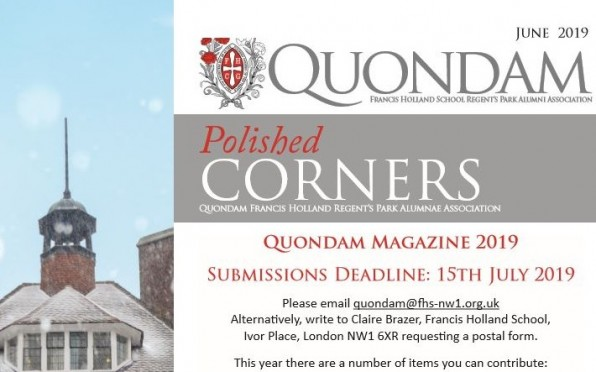 Submissions deadline for Polished Corners is 15th July 2019