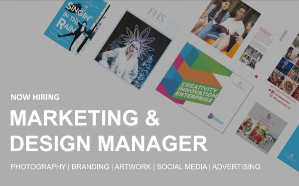 FHST are hiring are Marketing and Design Manager