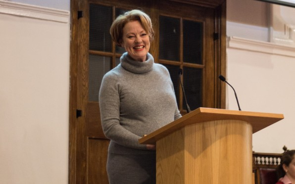 Sue, one of many alumni who spoke in the lecture series