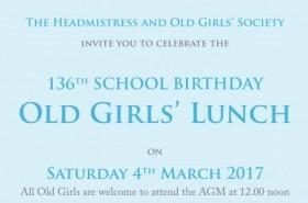 Old Girls' Lunch Invitation