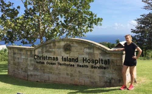 Frances Chivers at Christmas Island Hospital