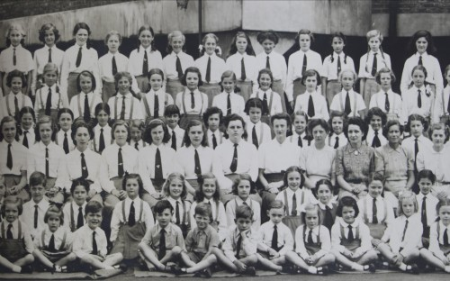 Section of the 1947 full school photo