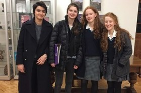 The senior debating team for the Hackney competition