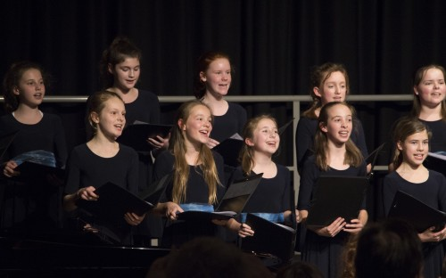 Girls perform at the Autumn Concert