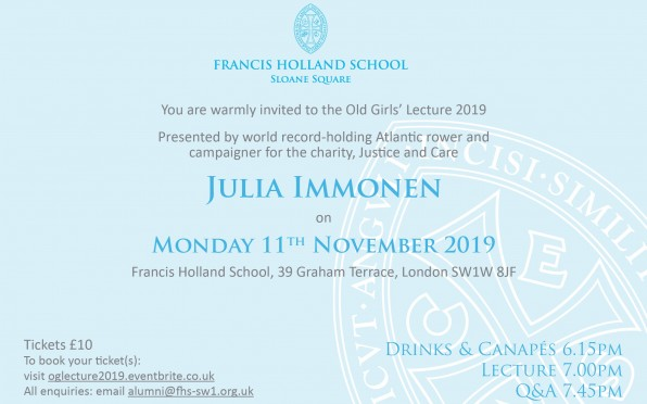 Old Girls' Lecture 2019