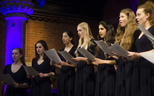 The Chamber Choir performs at the Spring Concert