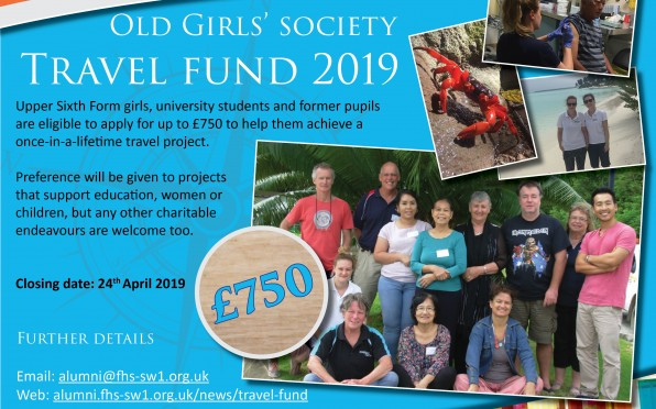 story image for Old Girls Travel Fund 2019