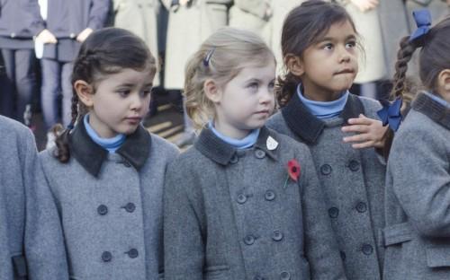 Junior pupils attend the Remembrance Service