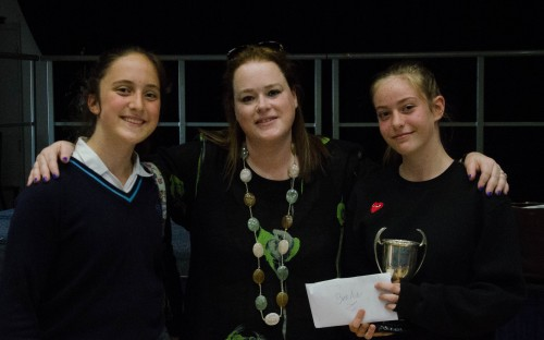 Alumna Sarah Esdaile and competition winners