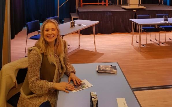 Alumna Brigitta Van Bilderbeek was one of several alumni who exhibited at last week's Careers Fair