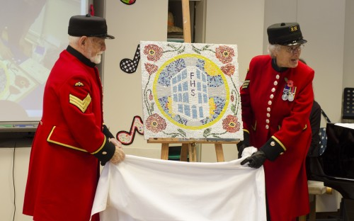 Chelsea Pensioners unveiling our mosaic