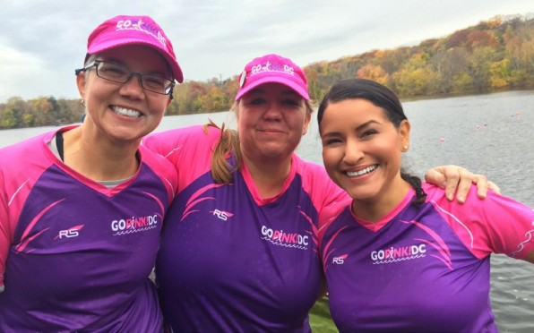 Heidi Bachman with other members of her Dragon boat team.