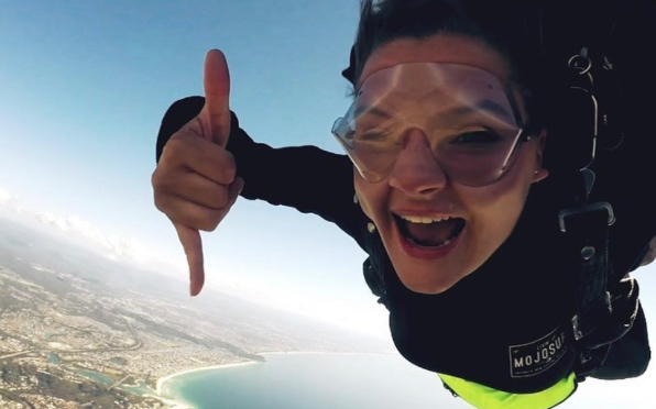 Skydiving off the Gold Coast in Australia
