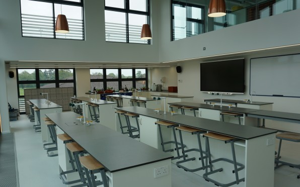 One of the labs that will be used for partnership work with other schools