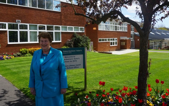Mrs Penney on a recent visit to the School