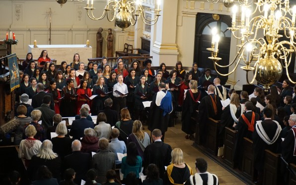 The opening congregational carol at the Carol Service.