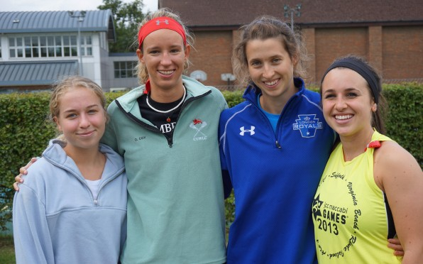 Some of our returning Old Girls who took part in the Lacrosse match