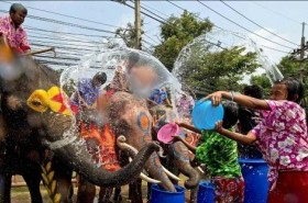 Songkran, the traditional Thai New Year Celebrations